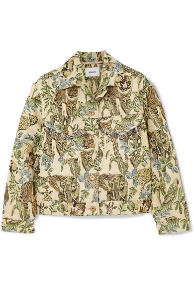 Nanushka Kiowa Jacke aus Metallic-Jacquard