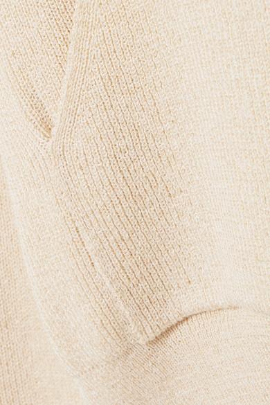 Nanushka Kapuzenoberteil aus Rippstrick