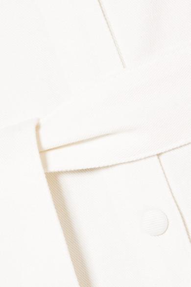 Nanushka Nuria Minikleid aus Stretch-Denim mit Bindegürtel und Raffung