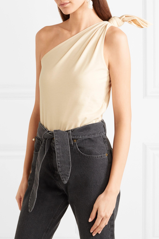 Nanushka Becca one-shoulder cotton-blend jersey bodysuit