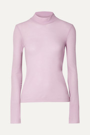 Alana cotton-jersey turtleneck top