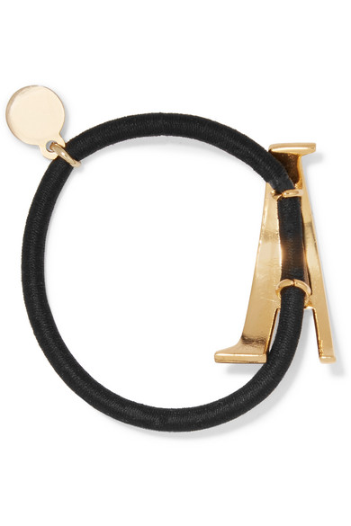 Lelet NY Gram Letter Gold-plated Hair Tie 2Sivw1