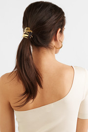 Gram Letter gold-plated hair tie
