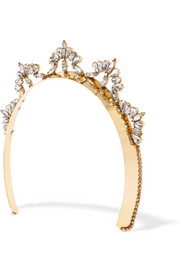 Nat gold-plated Swarovski crystal headband