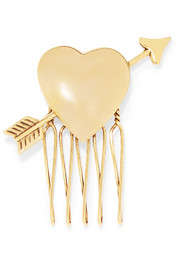 Love Struck gold-tone hair slide