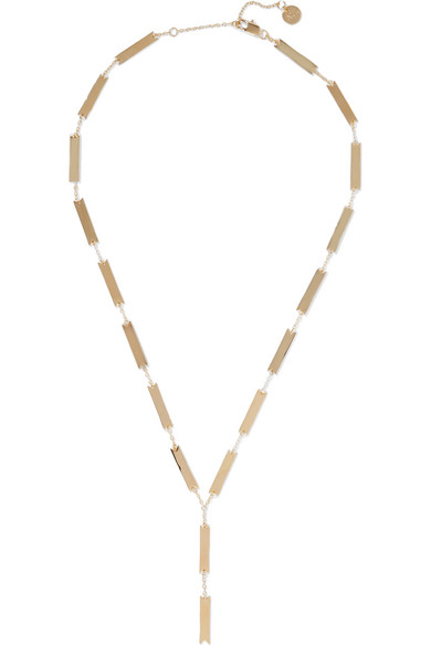 + Sally Lapointe Gold-plated And Leather Choker - One size Arme De L'Amour