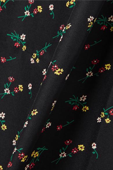 HVN Lily Seidenkleid aus Crêpe de Chine mit Blumenprint