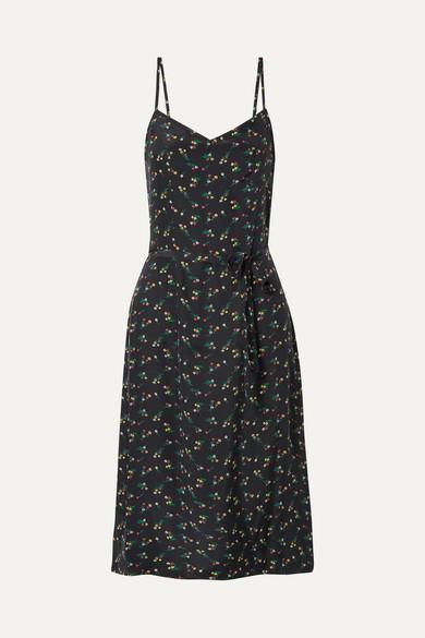 Lily Floral-print Silk Crepe De Chine Dress - Black HVN Enjoy For Sale Cheap Wiki Outlet Authentic Low Price bQsJkti