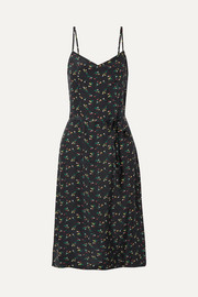 Lily floral-print silk crepe de chine dress