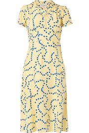 Morgan printed silk crepe de chine dress