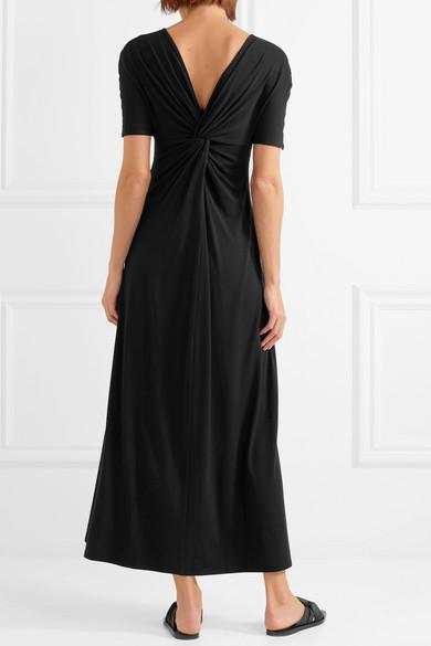Twist-front Stretch-knit Maxi Dress - Black Sid Neigum AFVfYUCW8