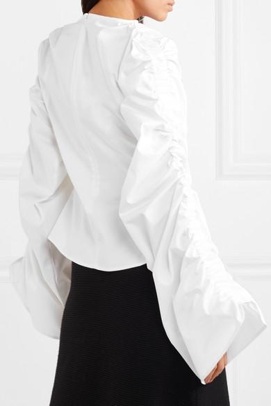 Sid Neigum Geraffte Bluse aus einer Baumwollmischung