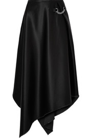 Sid Neigum Asymmetric embellished satin skirt