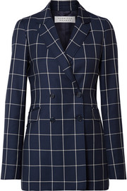 Gabriela Hearst Miles double-breasted checked wool-crepe blazer