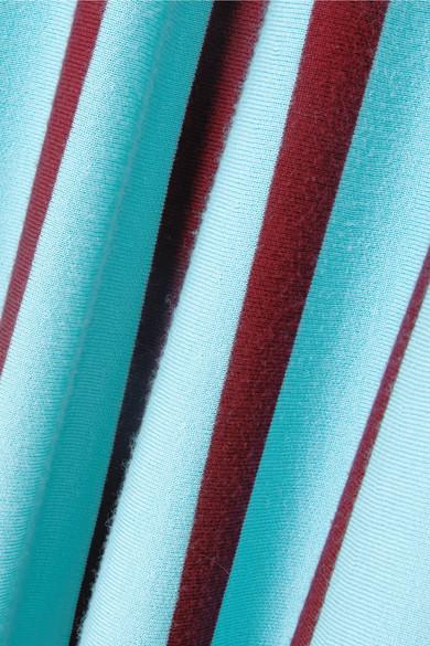 Gabriela Hearst Capote Midikleid aus einer Wollmischung mit Streifen