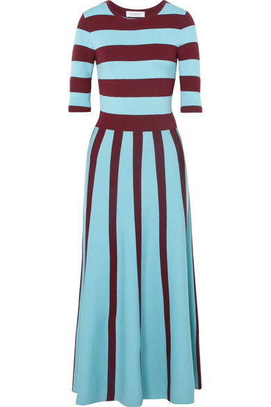 Clearance Inexpensive Free Shipping Cheap Quality Capote Striped Wool-blend Midi Dress - Blue Gabriela Hearst Fl66T