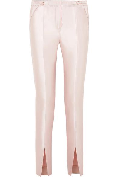 Gabriela Hearst Morrison Hose mit schmalem Bein aus einer Seiden-Wollmischung