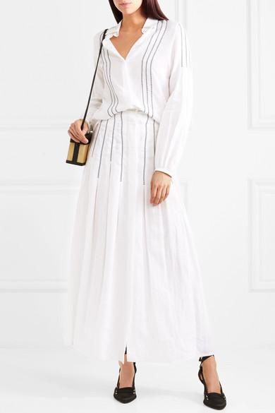 Gabriela Hearst Wight besticktes Leinenhemd