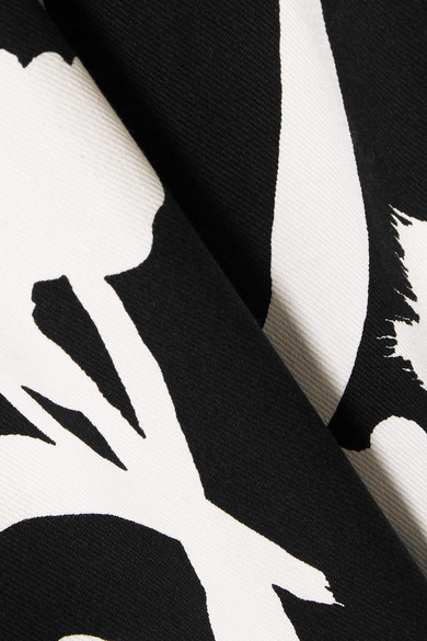 Oscar de la Renta Bedrucktes Kleid aus Twill aus einer Baumwollmischung