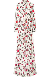 Oscar de la Renta Printed silk-blend maxi dress