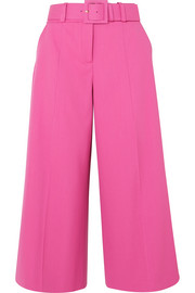 Oscar de la Renta Belted wool-blend wide-leg pants