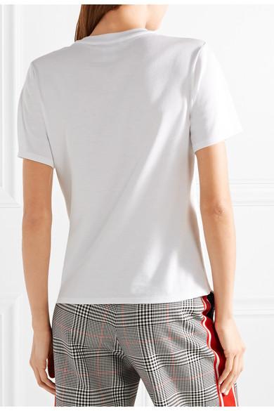 Oscar de la Renta Verziertes T-Shirt aus einer MicroModal®- und Supima-Baumwollmischung