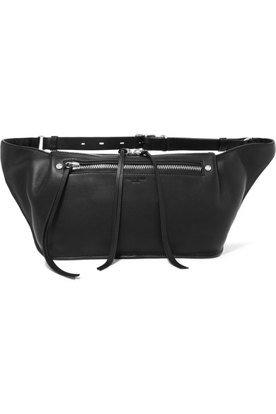 Rag & Bone Ellis Large Belt Pouch Made Of Textured Leather