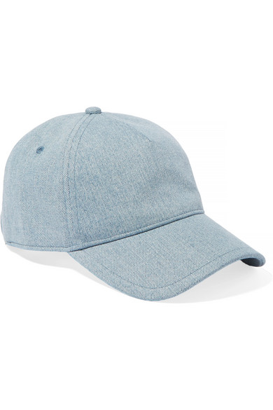 Marilyn Leather-trimmed Denim Baseball Cap - Light denim Rag & Bone NBGbWX