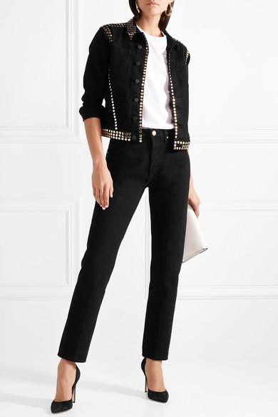 L'Agence Celine Jeansjacke mit Nieten