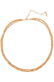 Chan Luu Gold-plated faux pearl necklace