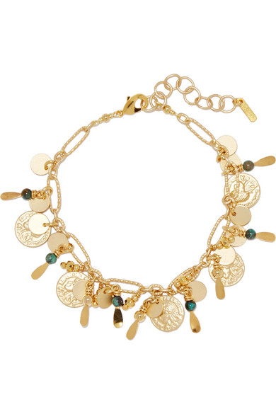 Chan Luu - Gold-tone Turquoise Bracelet