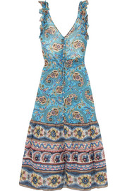 Anjuna Alexandra ruffled printed cotton-gauze midi dress
