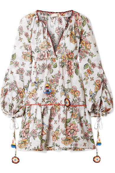 Anjuna Sabrina bedrucktes Minikleid aus Baumwoll-Gaze