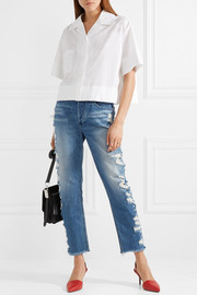 W3 Higher Ground cropped distressed high-rise jeans