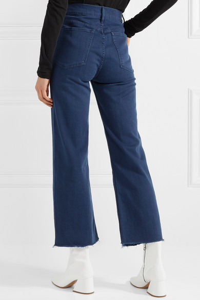 3x1 W4 Shelter Highly Sedentary Shortened Jeans With A Straight Leg And Fringes
