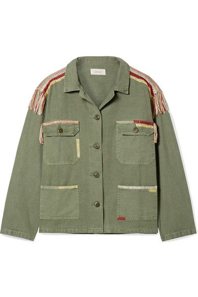 The Great The Sergeant bestickte Jacke aus Baumwoll-Canvas
