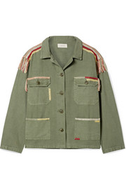 The Sergeant embroidered cotton-canvas jacket