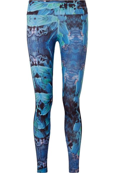 Bodyism - I Am Fantastic Mesh-paneled Printed Stretch Leggings - Blue