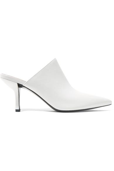 Diane von Furstenberg Leather Mules