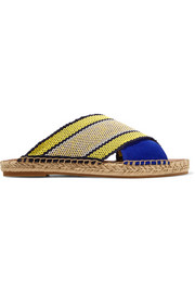 Millie canvas and suede espadrille sandals