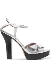 Tatum metallic elaphe platform sandals