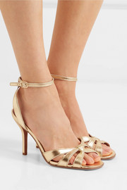 Felicity metallic textured-leather sandals