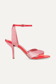 Fiona satin and suede sandals