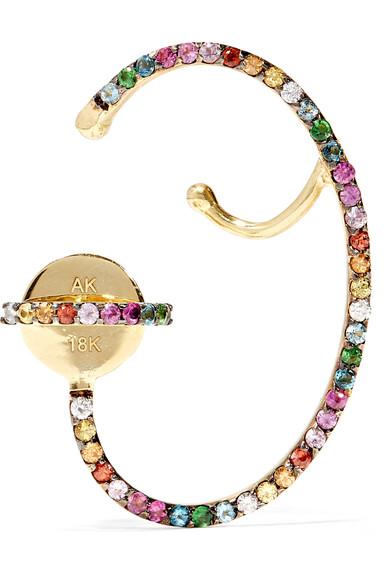 Ana Khouri - Multicolored Lily 18-karat Gold Sapphire Earring