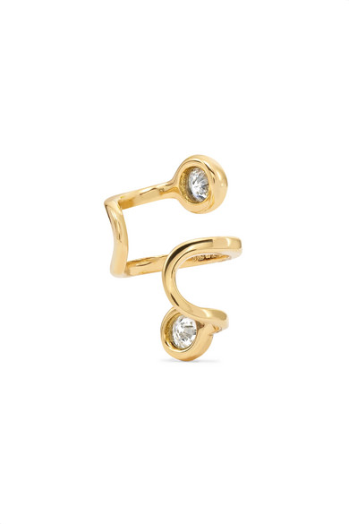 Amelie 18-karat Gold Diamond Ear Cuff - one size Ana Khouri DCUZgn