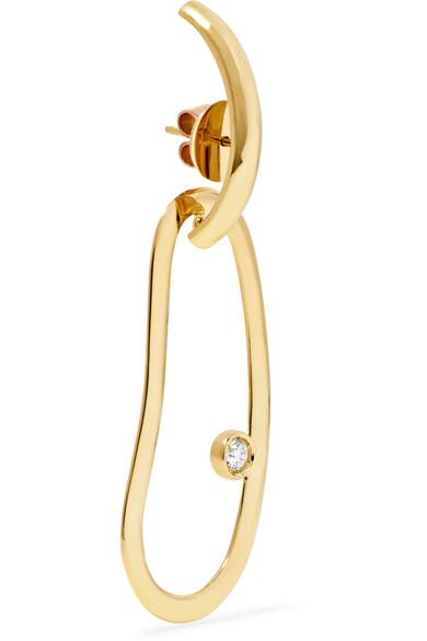 Claire 18-karat Gold Diamond Earrings - one size Ana Khouri iHyRxPSR8
