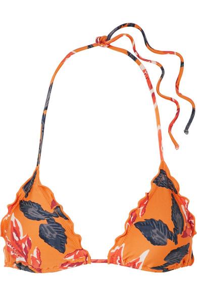 Tulum Floral-print Triangle Bikini Top - Orange Vix Manchester Sale Low Price Fee Shipping Free Shipping Low Shipping Fee Discount Affordable Discount Eastbay qGGnL20HwZ