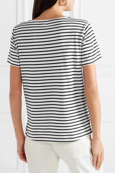Chinti and Parker Gestreiftes T-Shirt aus Jersey aus Biobaumwolle