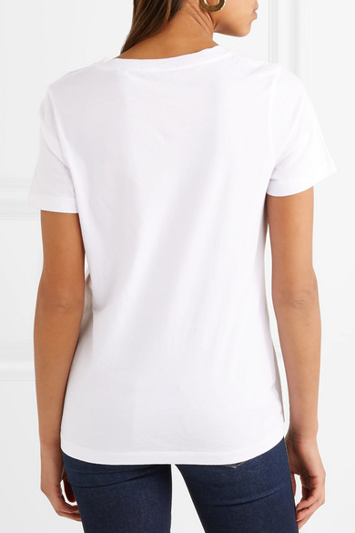 Chinti And Parker Peut Etre Embroidered T-shirt In Cotton Jersey