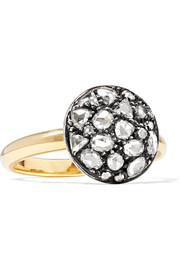 Collection 18-karat gold, sterling silver and diamond ring